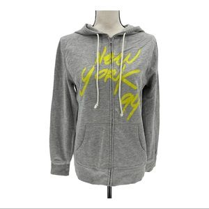 Old Navy New York Full Zip Hoodie Sweatshirt Sz M